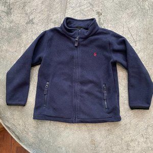 Polo Ralph Lauren Blue Zip Up Fleece Sz 6